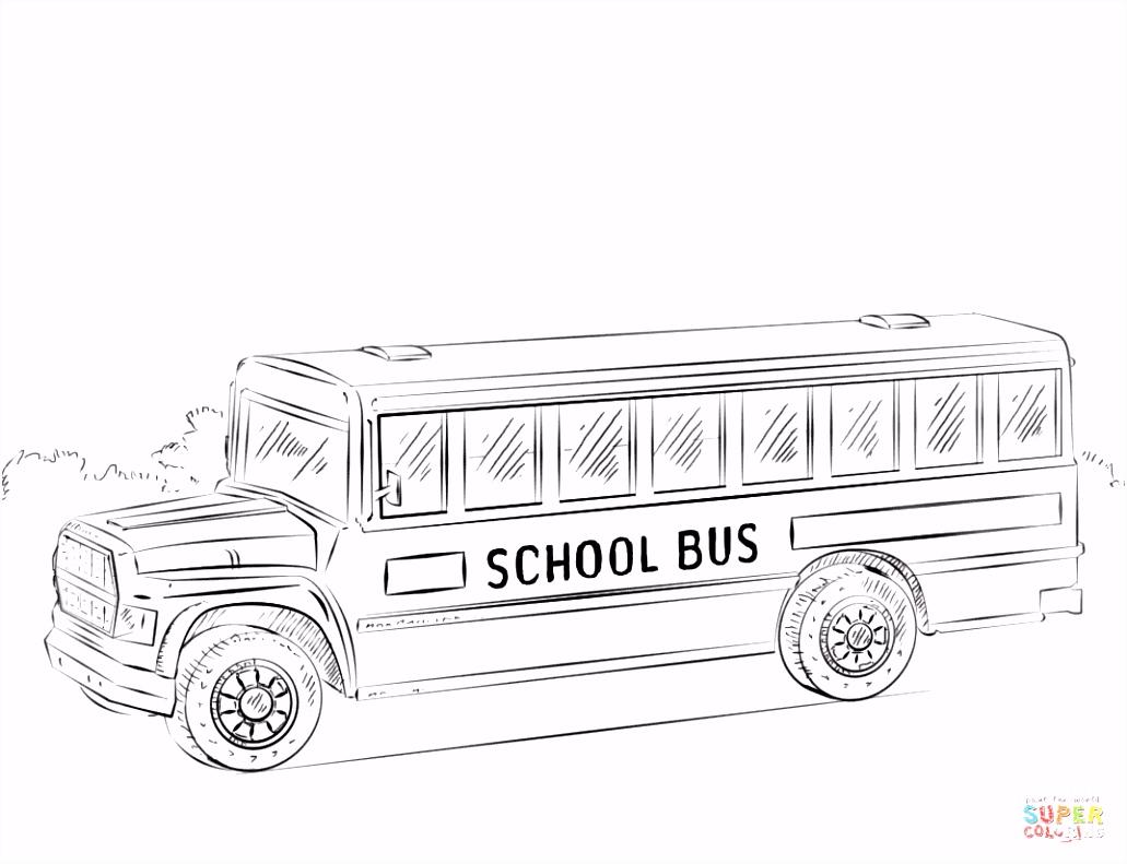 Schoolbus kleurplaat