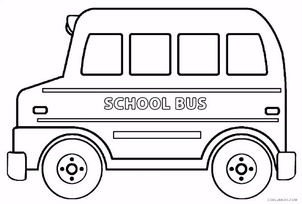 Schoolbus Kleurplaten Printable School Bus Coloring Page For Kids