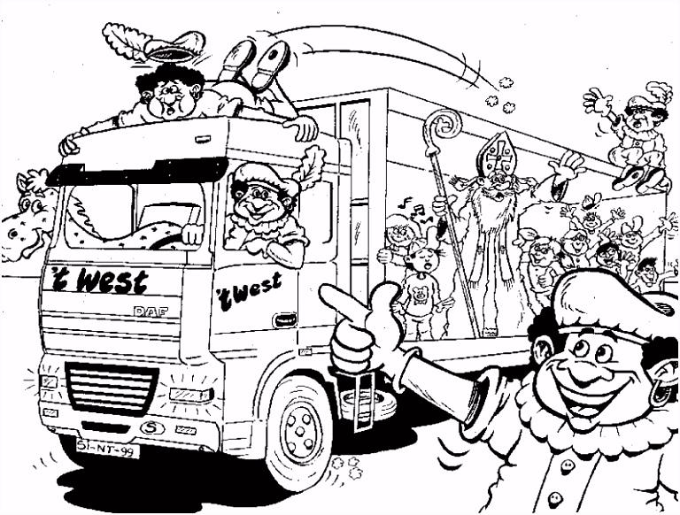 Zwarte Piet Kleurplaat Sinterklaas Kleurplaat Animaatjes