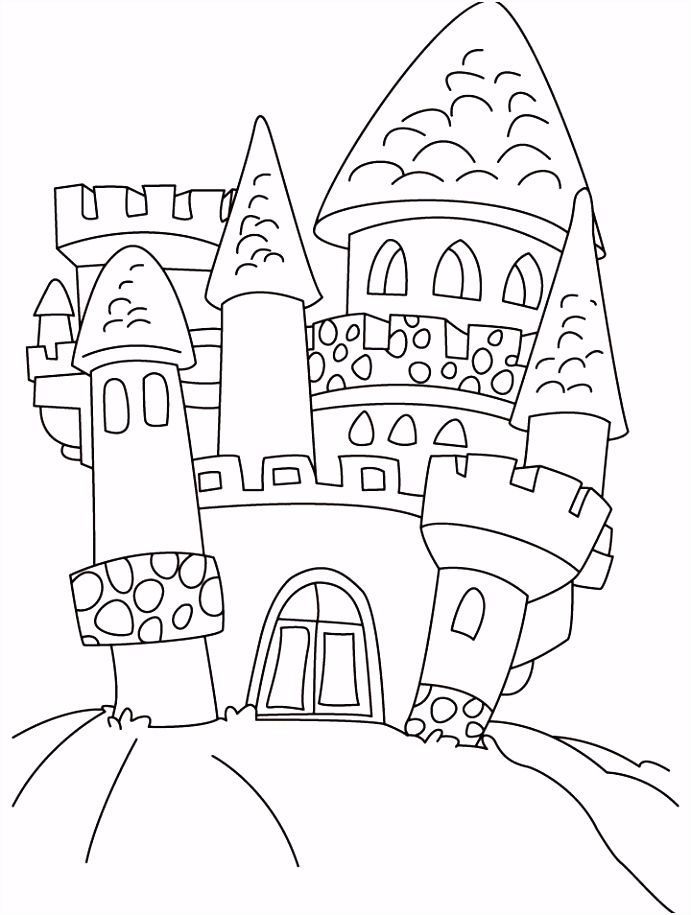 Old castle coloring pages pohádky karneval