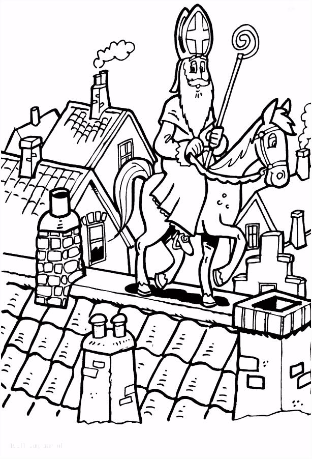1001 KLEURPLATEN Sinterklaas Sint Kleurplaat Sinterklaas op