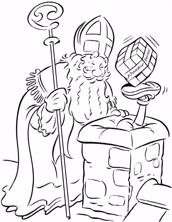 Kleurplaat Sinterklaas Kleurplaat Sinterklaas Op Het Dak Animaatjes