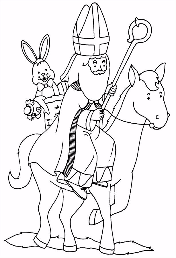 Kleurplaat Paard Van Sinterklaas ARCHIDEV
