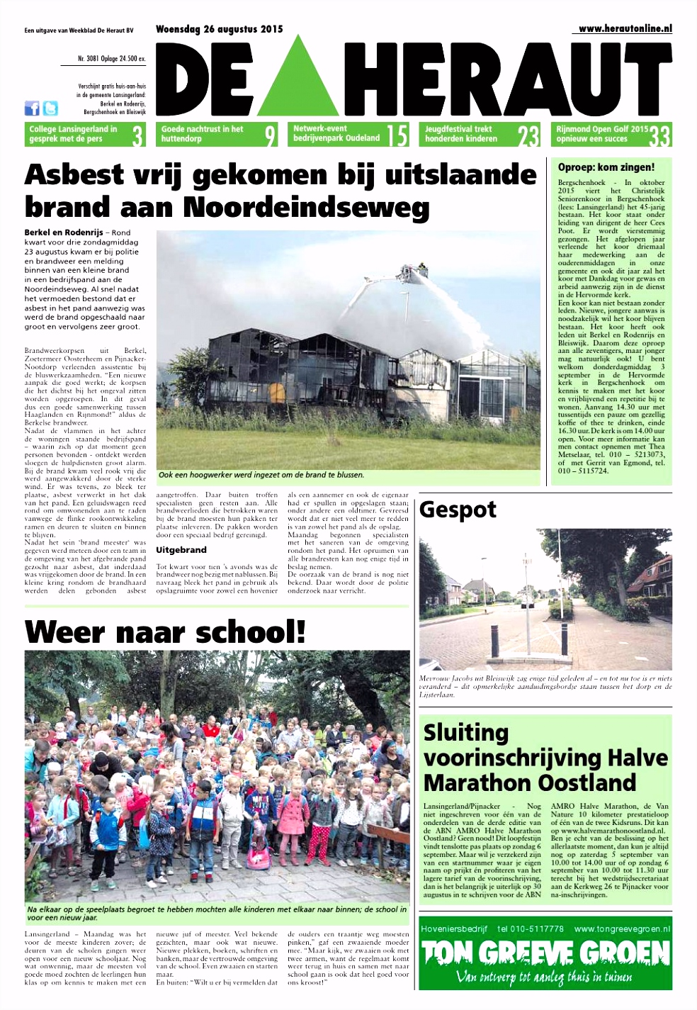 Heraut week 35 2015 by Nieuwsblad De Heraut issuu