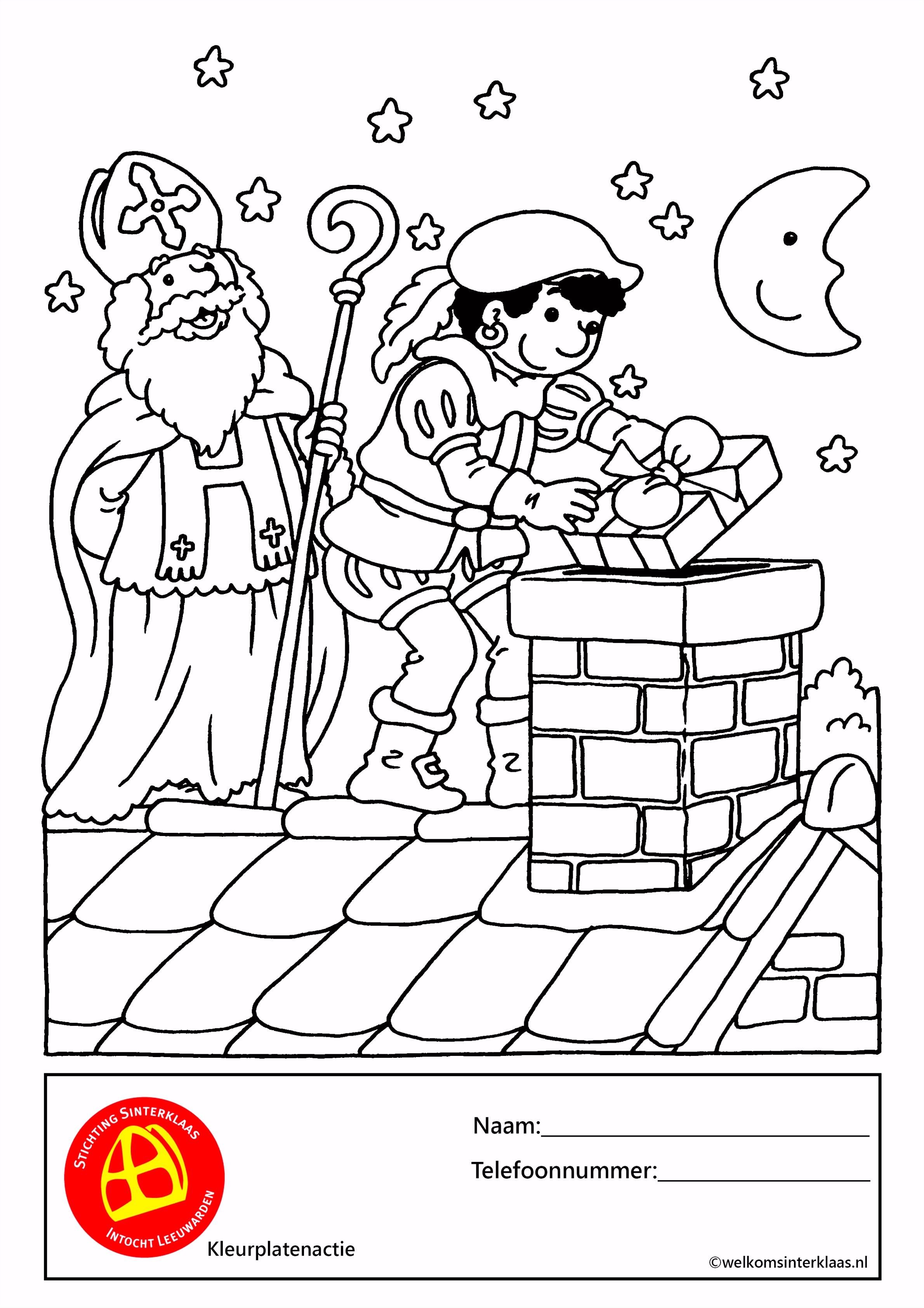 Kleurplaten voor Sint Sinterklaas Leeuwarden