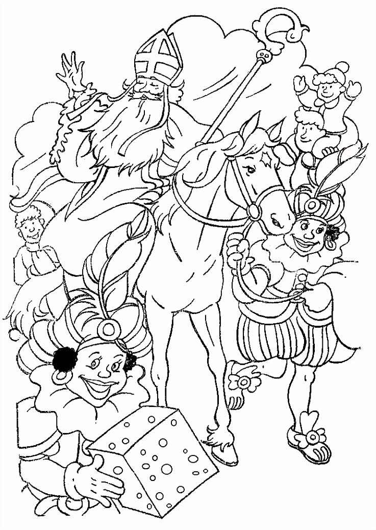 Sinterklaas En Zwarte Piet Kleurplaten ARCHIDEV