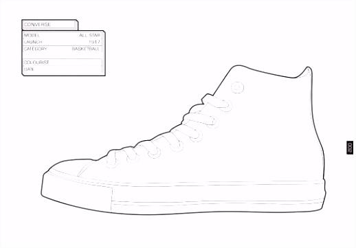 Sneaker kleurboek thema schoenen