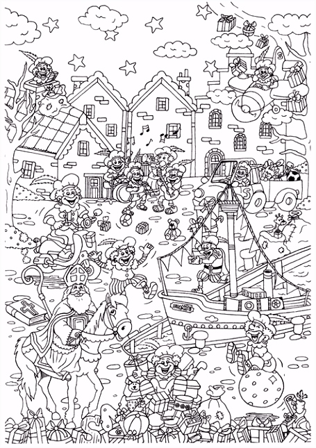 Honderden Voorbeel Sinterklaas Kleurplaten Tokyoughoul Re Kousatu