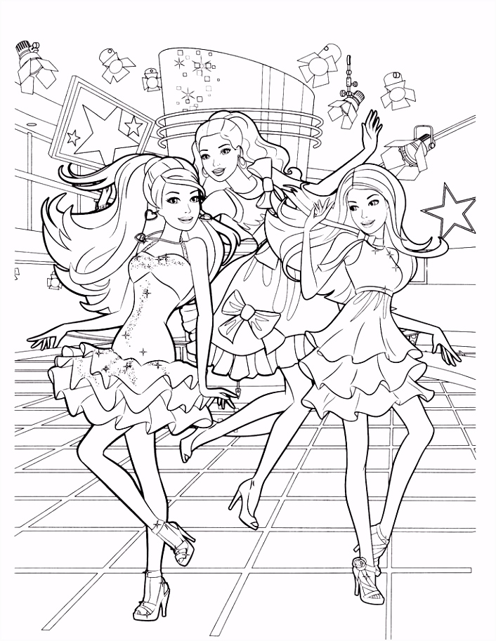 10 Coloring Book Barbie Eco Coloring Page