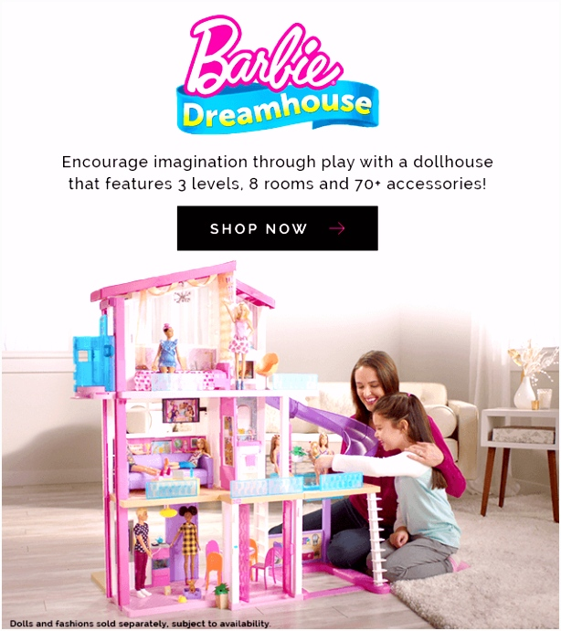Barbie Toys Dolls Playsets Vehicles & Dollhouses