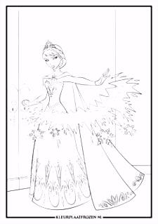 10 beste afbeeldingen van Kleurplaat Elsa in 2018 Coloring books
