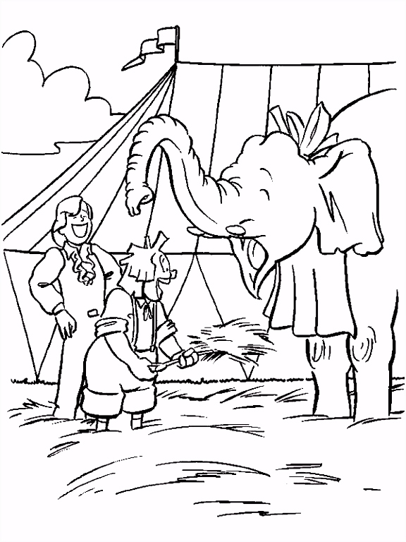 Bassie en Adriaan kinder kleurplaten Bassie en Adriaan en de olifant