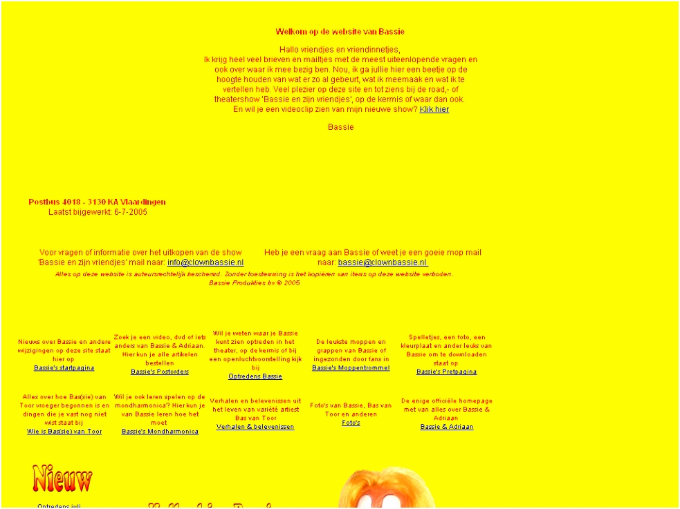 Welkom op de website van Bassie