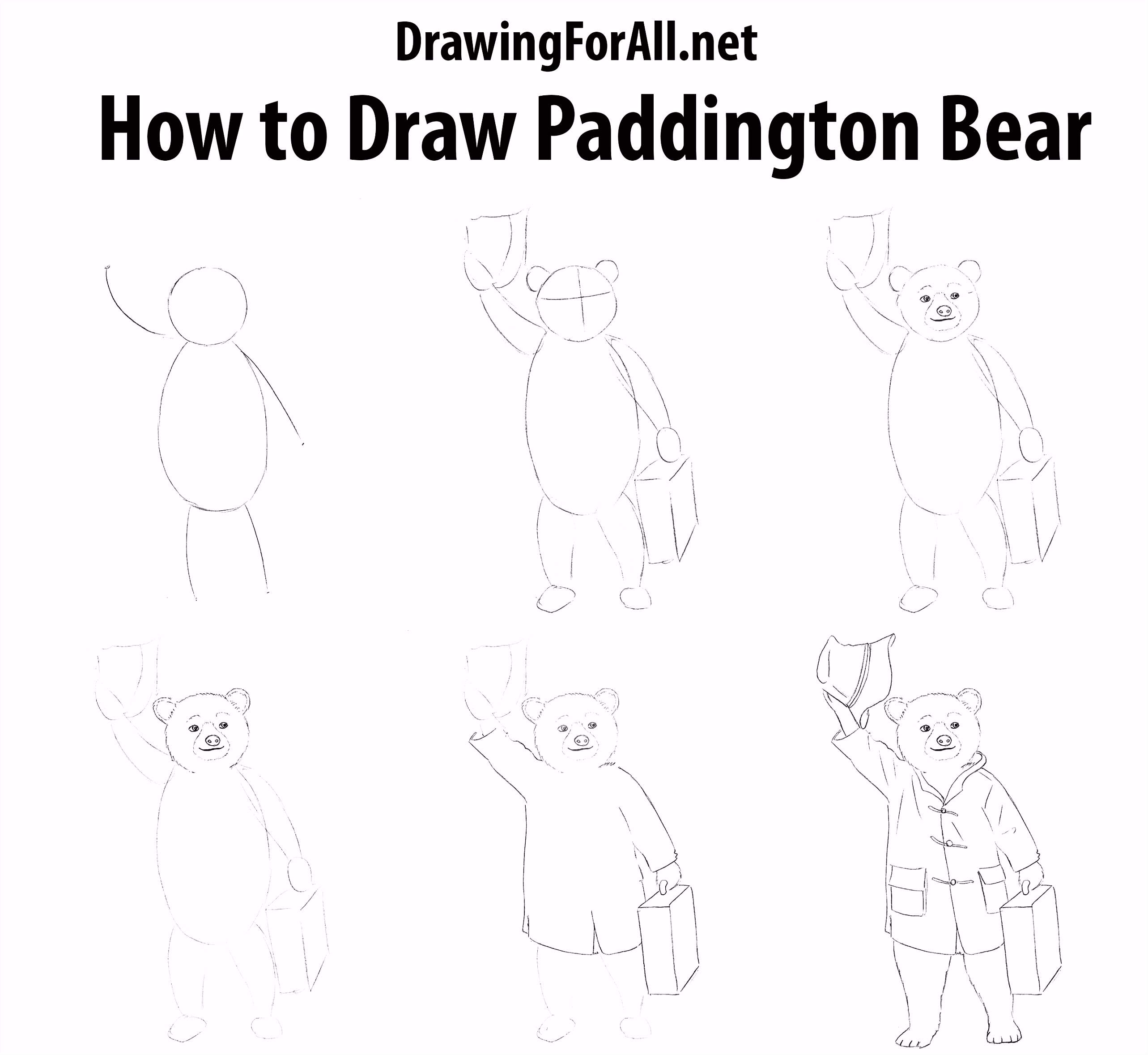 How to Draw Paddington Bear How To Draw Pinterest