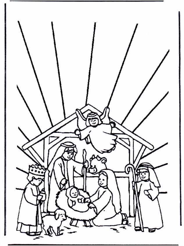 Kerststal 1 Bijbelkleurplaten kerst