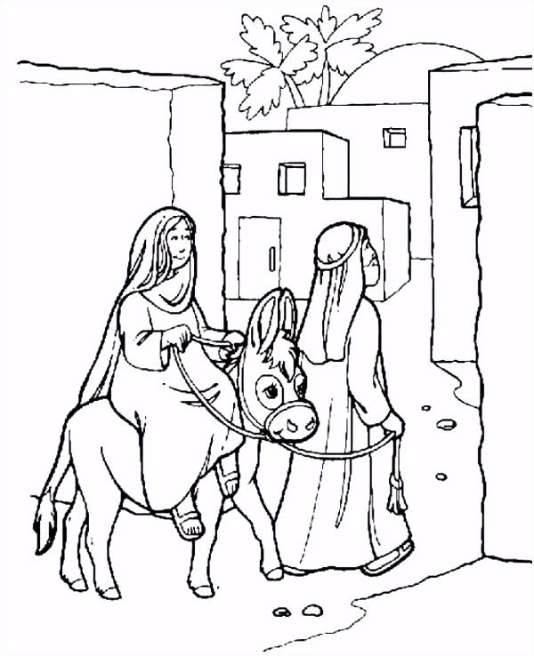 Bijbelse Kleurplaten Kerst ARCHIDEV