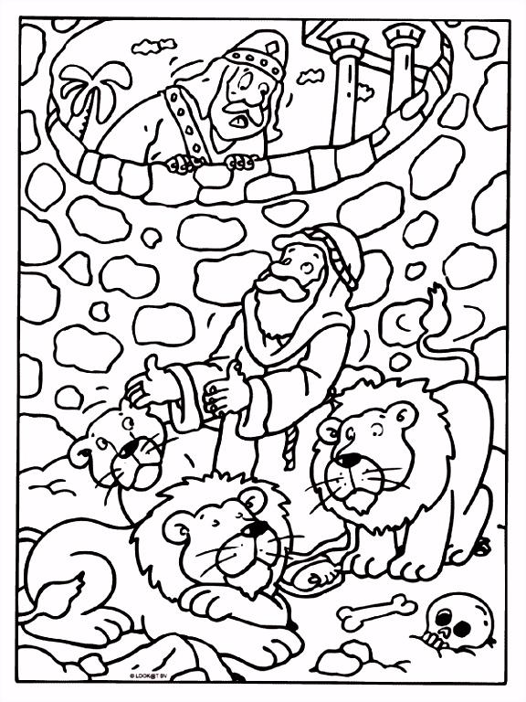 Kleurplaat Daniel bijbelse figuren Kleurplaten