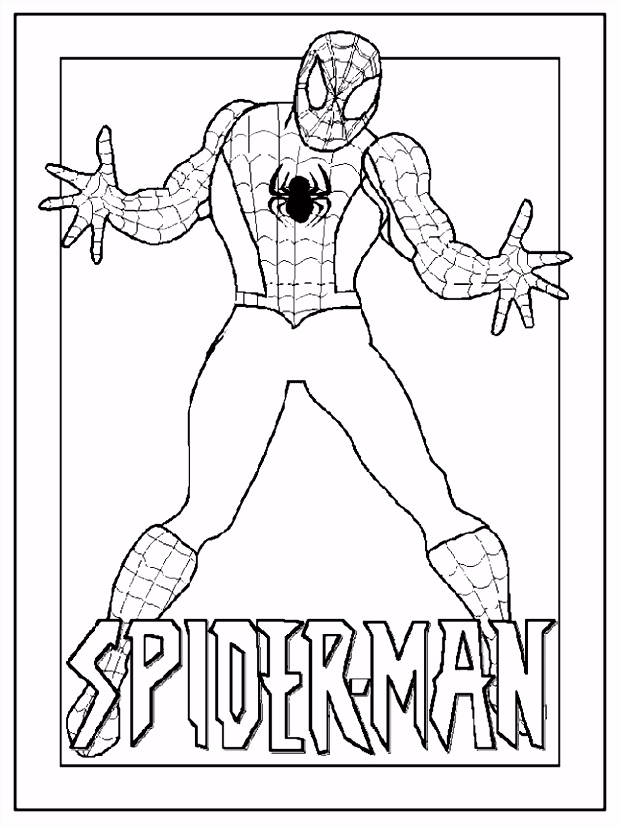 Spider Man kleurplaat more coloring Pinterest