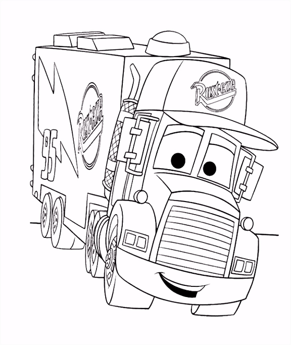 Cartoon Cars Truck Coloring Page Kids Coloring Pages