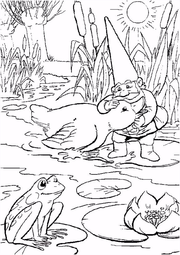 Kleurplaat David De Kabouter Animaatjes