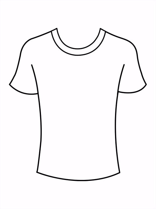 Kleurplaat T shirts Gratis kleurplaten Coloring