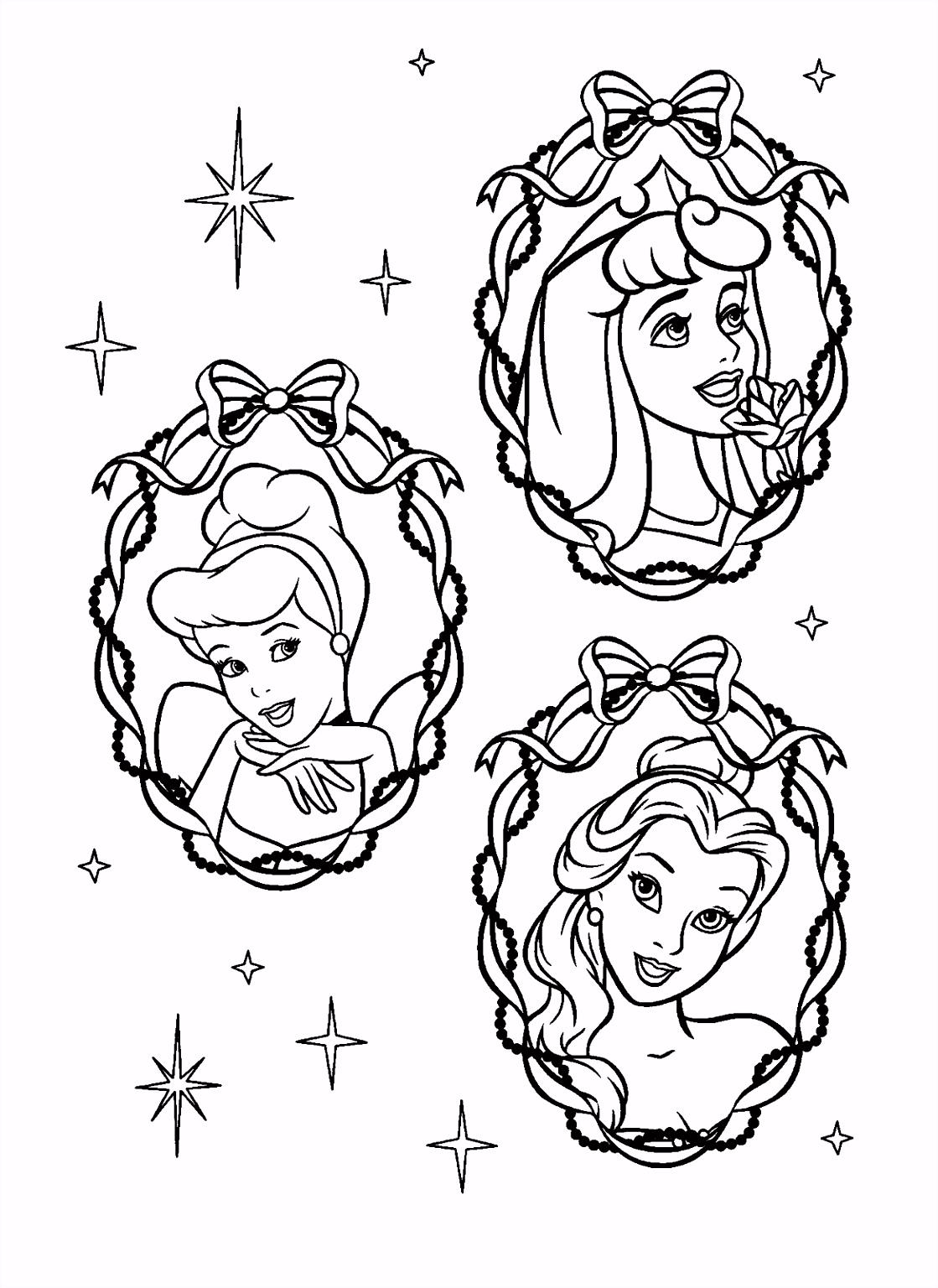 Disney Prinsessen Kleurplaat – inkleuren