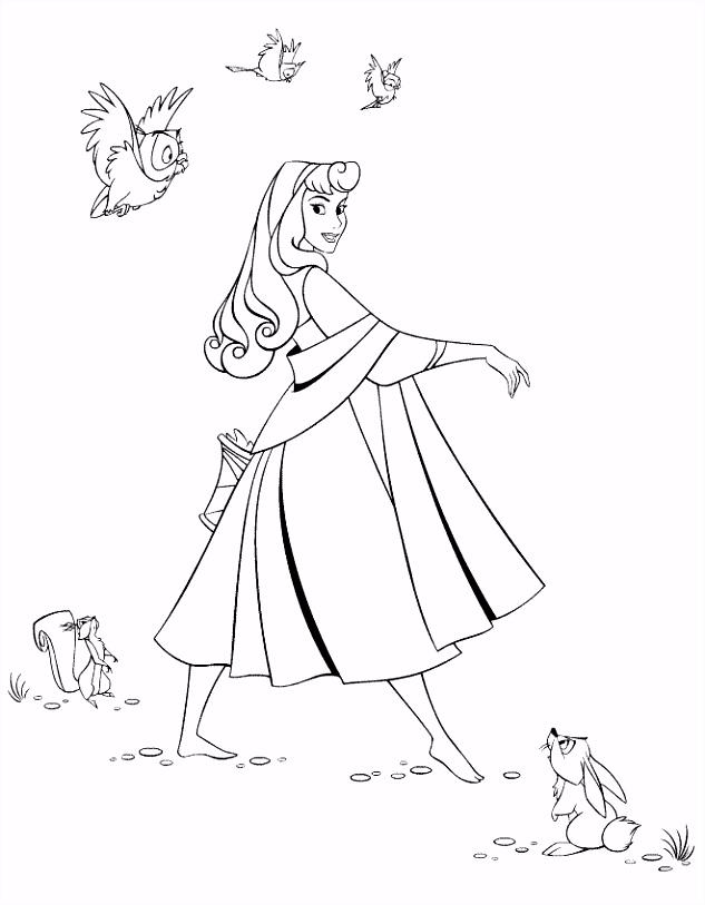 Doornroosje Kleurplaat Disney Kleurplaat Animaatjes