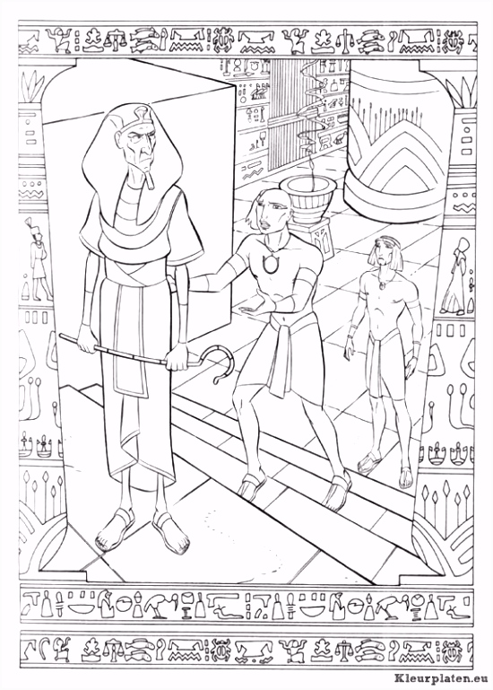 Kleurplaat Vlucht Naar Egypte ARCHIDEV