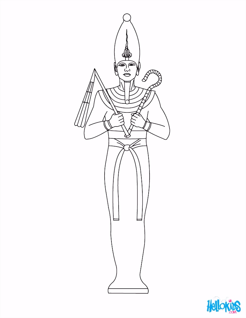 Osiris Egyptian goddess & gods Coloring Page