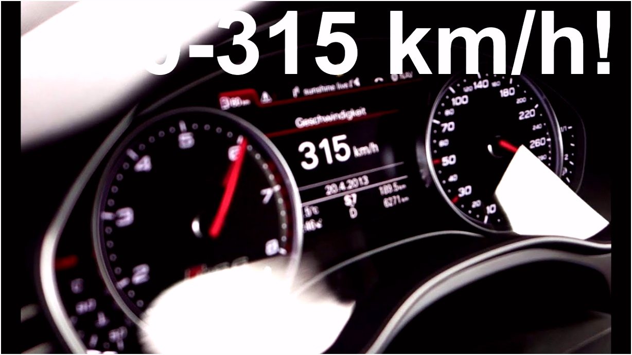 Audi RS6 2013 from 0 315 km h