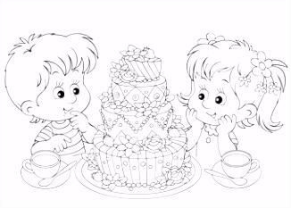 Kleurplaat taart 25 allerleukste taarten kleurplaten voor kids