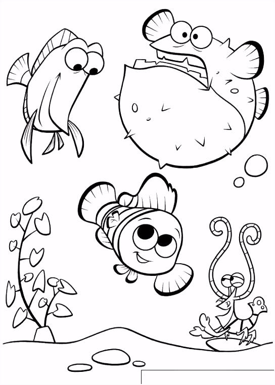 Kleurplaat Nemo Vis ARCHIDEV