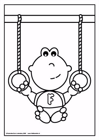 Frokkie zit op de gym en mag vandaag in de ringen hangen Kijk eens