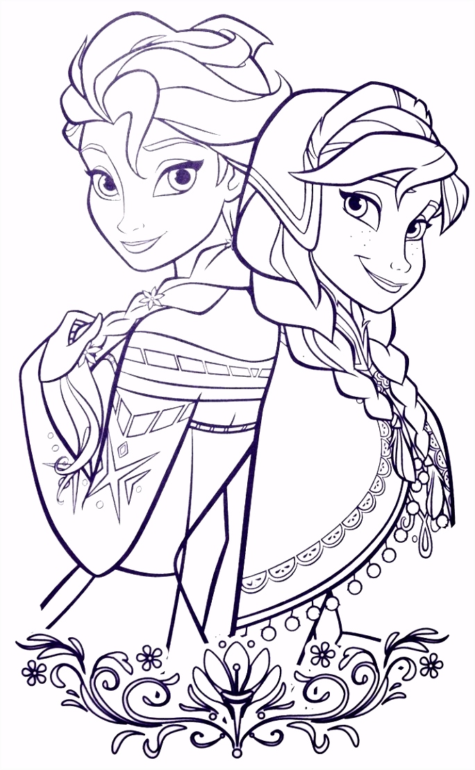 Elsa and ANna Coloring Sheets Pinterest