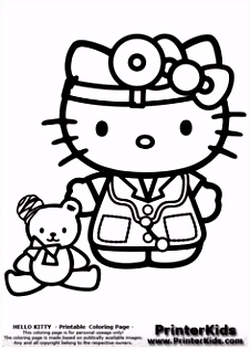 281 best coloring hello kitty images on Pinterest in 2018