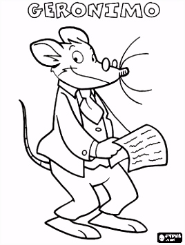 Geronimo Stilton coloring pages Helena Pinterest