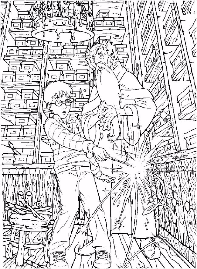 coloring page Harry Potter Kids n Fun kolorowanki