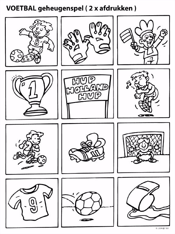 Kleurplaat Geheugenspel EK voetbal Kleurplaten