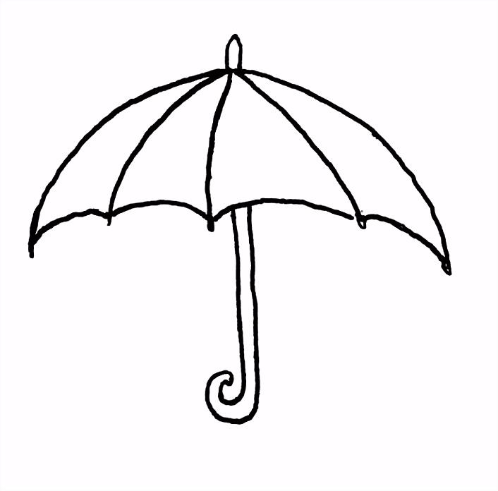 Parasol Kleurplaat Malvorlage Regenschirm Ausmalbild