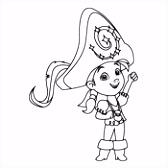 Kleurplaat Jake en de Nooitgedachtland Piraten Disney