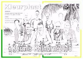 Kleurplaat kermis Kermis Kolhorn 2018