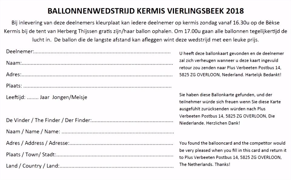 Vierlingsbeek Kermis gemeente Boxmeer