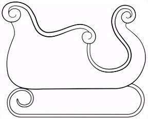 Afbeeldingsresultaat voor ren r met arreslee kleurplaat