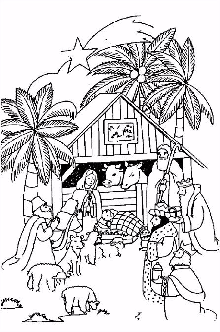 Bijbel Kleurplaten Eenvoudig Kerst Bijbel Kleurplaten – Werkbladen