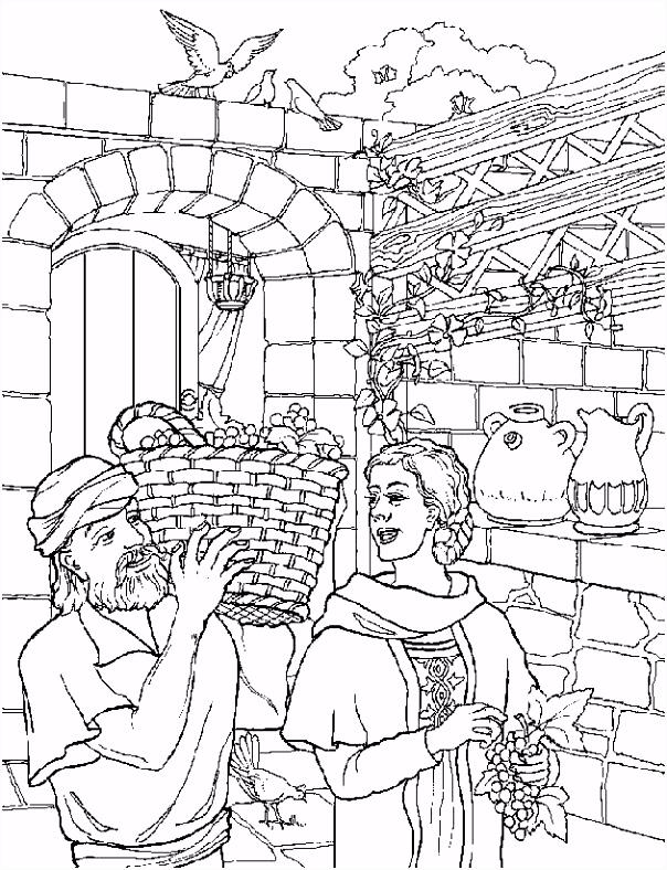 Kleurplaten kerst Zacharias en Elisabet GKV Apeldoorn Zuid