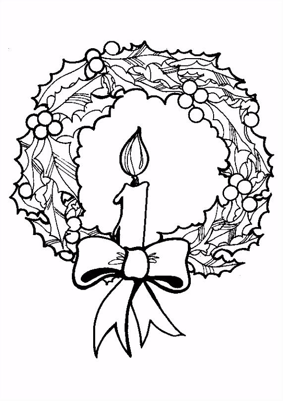 Kleurplaat Kerst kaarsen 4226