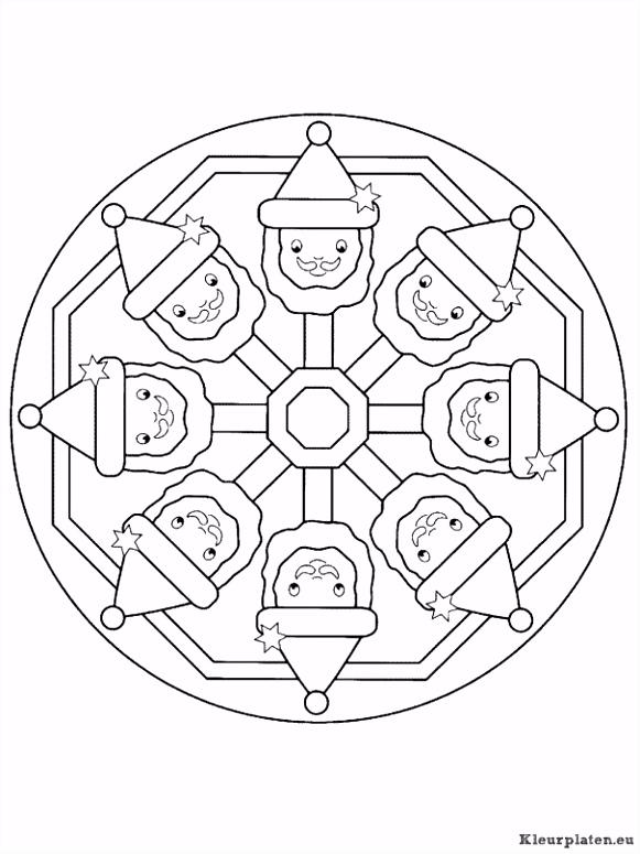 Mandala kerstmis kleurplaat kleurplaat