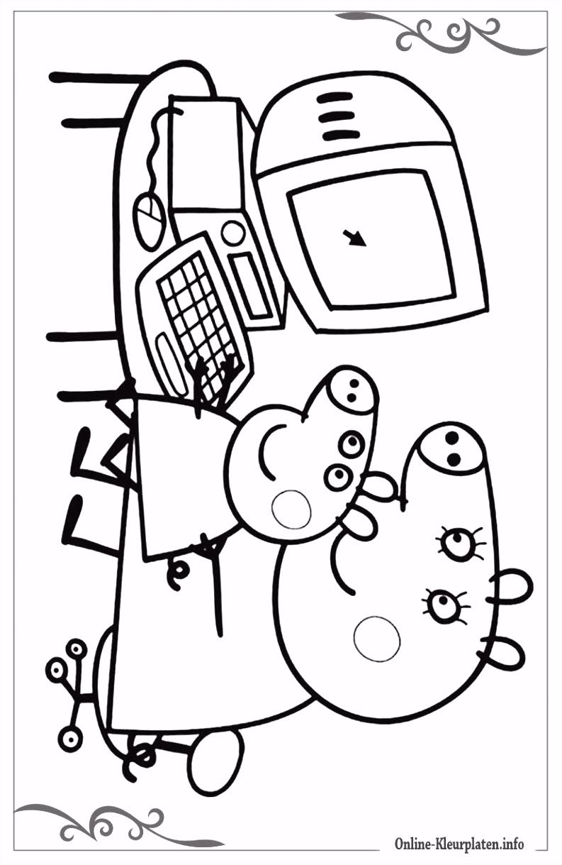 Kleurplaat Peppa Pig line ARCHIDEV