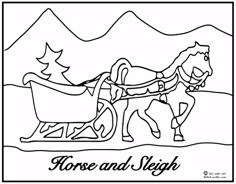 of Sleigh Bells Coloring Pages