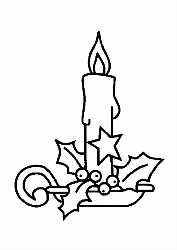 Kerstkaarsen Kleurplaten ARCHIDEV